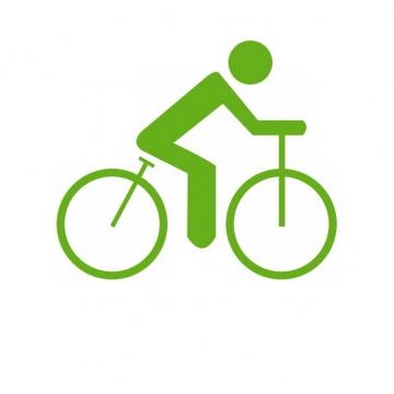 绿色骑自行车的小人儿标志391571png图片免抠素材