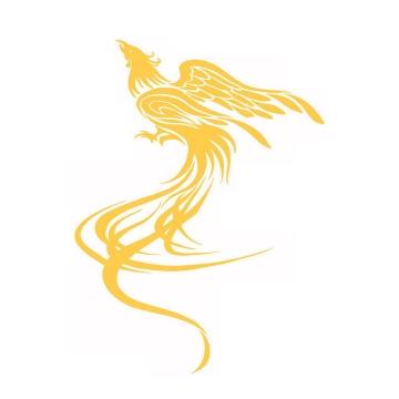 飞行的金色凤凰不死鸟png图片免抠素材