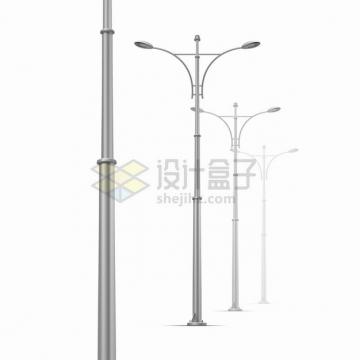 一排现代化的路灯灯杆png图片素材