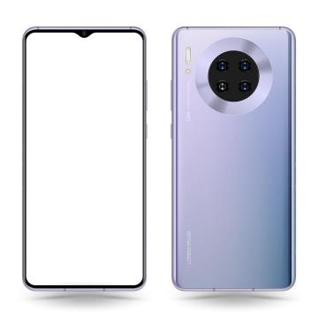 华为mate 30 pro智能手机正面和背面图png图片免抠矢量素材