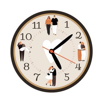 创意抽象爱情时钟感情时间图片免抠矢量素材