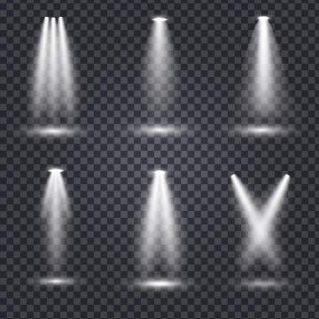 六款灯光照射效果图片免抠素材