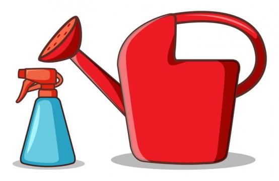 卡通浇花浇水的水壶和喷壶图片免抠矢量图素材