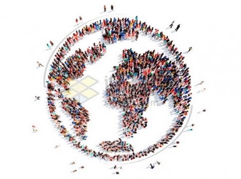 人群组成的地球世界地图图案世界人口日776726png图片素材