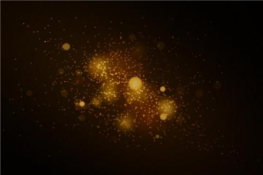 黄色星光发光光点背景图片免抠矢量图素材