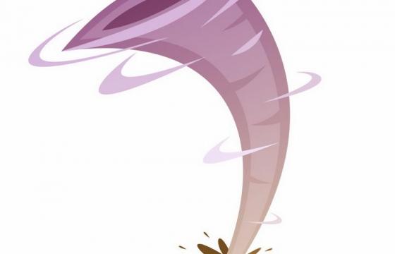 卡通风格在绿色大地上的龙卷风png图片免抠矢量素材