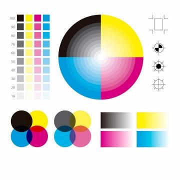 CMYK色值卡校准颜色测试图png图片免抠eps矢量素材