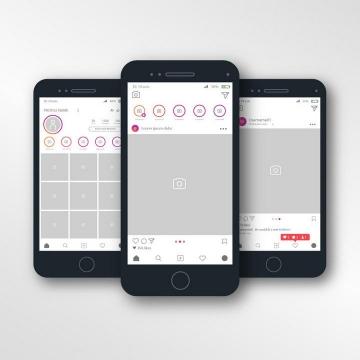社交网站手机APP效果展示图片素材