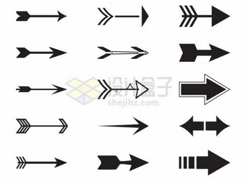 15款各种形状的箭头图案462789png图片素材