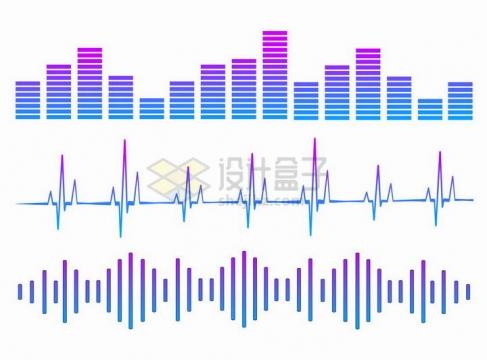 渐变色风格EQ音乐均衡器声波图案png图片免抠矢量素材