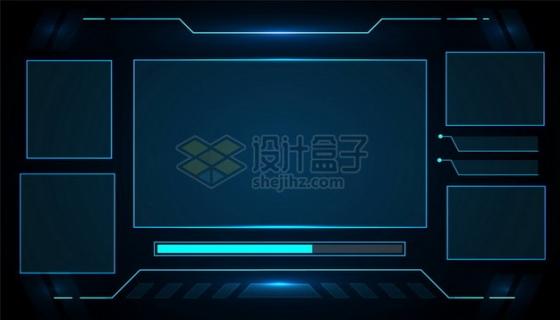 科幻风格蓝色显示界面679480png图片素材