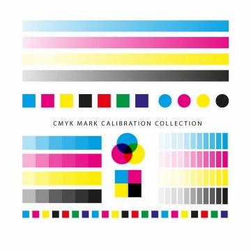 CMYK色值卡校准颜色浓度灰度测试图png图片免抠eps矢量素材
