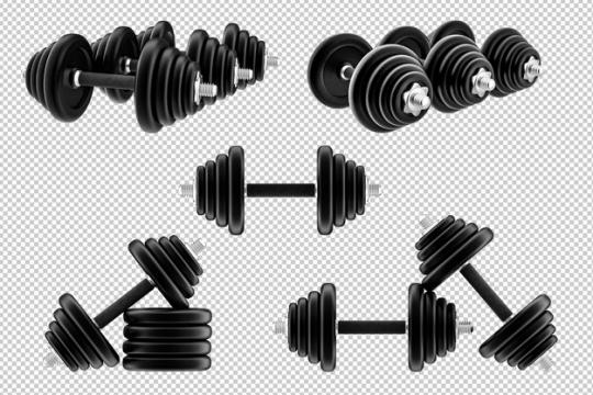哑铃健身器材png免抠图片素材