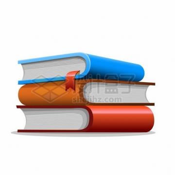 三本放一起的厚厚的卡通书本书籍489386png图片素材