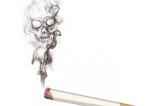 创意禁止吸烟香烟骷髅烟雾图片免抠素材