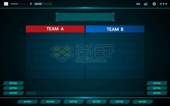 科幻风格蓝色体育比赛比分显示界面597329png图片素材