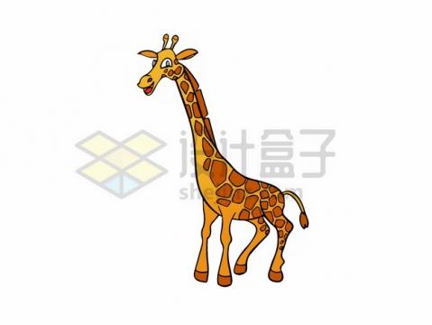搞笑的卡通长颈鹿png图片素材