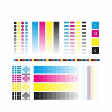 各种灰度亮度的CMYK色值卡校准颜色png图片免抠eps矢量素材