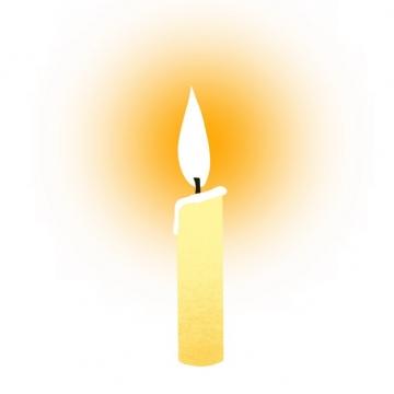一根米黄色的蜡烛2705918png图片素材