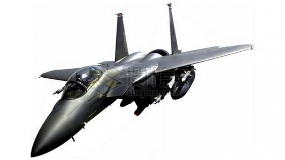 金属深灰色的F15战斗机png免抠图片素材