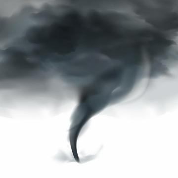 乌黑的龙卷风自然奇观png图片免抠矢量素材