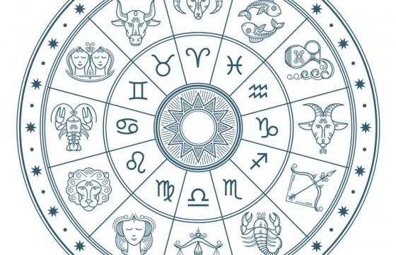 12星座转轮星座符号占星术图片免抠素材
