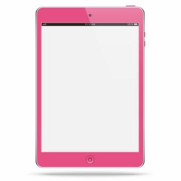 粉色边框的苹果iPad平板电脑png图片免抠矢量素材
