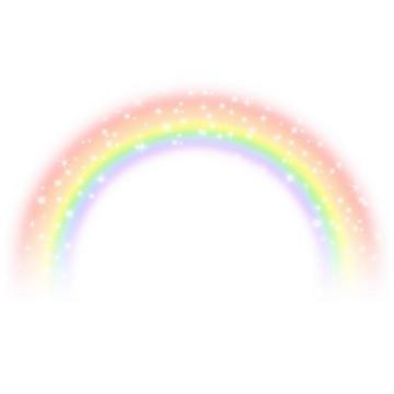 半透明风格星星点点七彩虹图片免抠素材