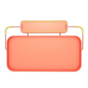 C4D风格橙色淘宝天猫京东电商店铺首页产品展示边框图片免抠素材