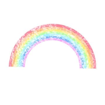 斑驳的七彩虹图片免抠素材