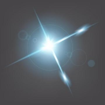蓝白色的星光光晕光芒效果免抠png图片矢量图素材
