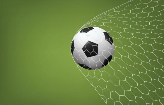 冲进球网的足球png图片免抠矢量素材