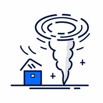 MBE风格龙卷风常见灾害插画png图片素材237557
