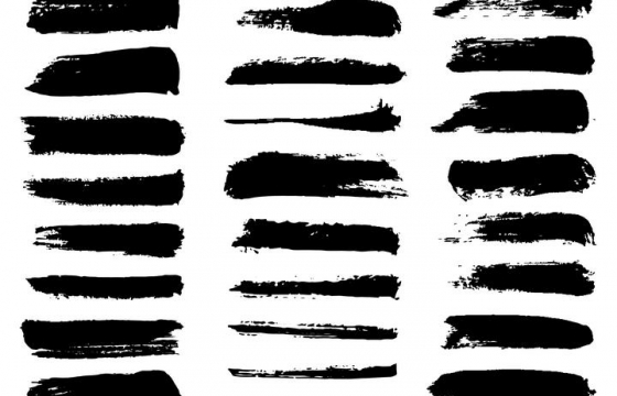 30款各种不同形状的毛笔涂鸦风格色块文本框图片免抠素材合集
