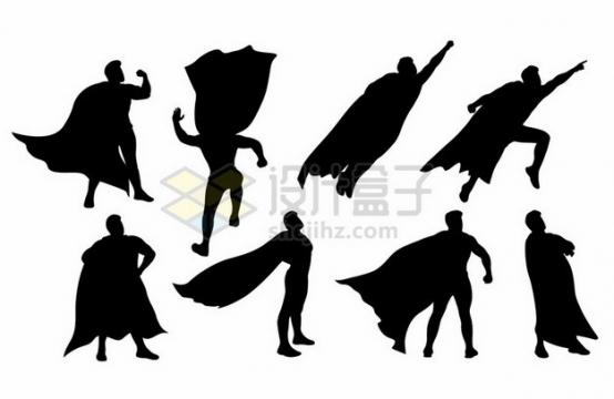 8款超人剪影599546png图片素材