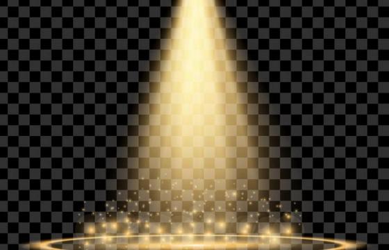 黄色射灯舞台灯光光斑效果免抠png图片矢量图素材
