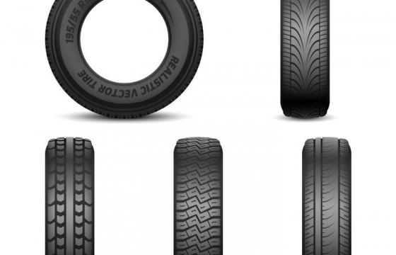 各种不同花纹的汽车轮胎正面图png图片免抠矢量素材