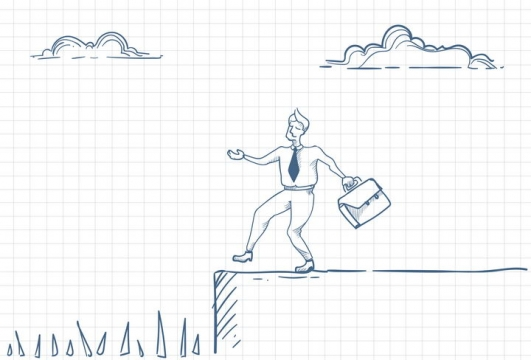 圆珠笔画涂鸦风格前方是陷阱职场人际交往配图图片免抠矢量素材