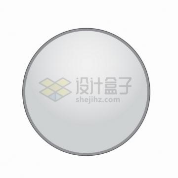 银灰色的圆形按钮png图片素材