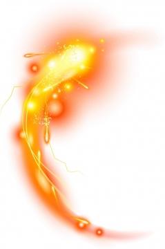 绚丽的黄色红色凤凰金龙锦鲤发光效果png图片免抠素材