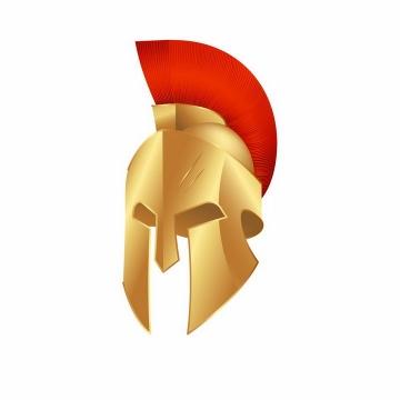 金色的古罗马战士头盔帽子png图片免抠矢量素材