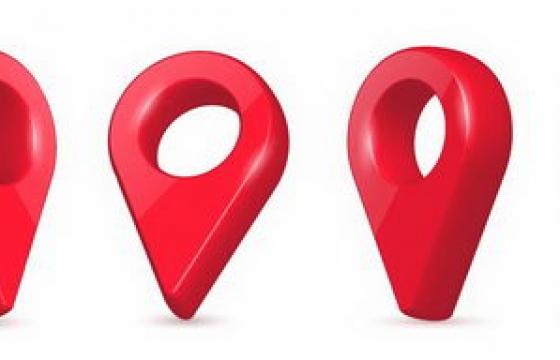 六种很有质感的红色定位图标免抠png图片矢量图素材
