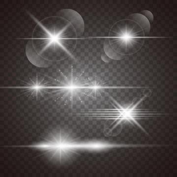多种白色星光光线效果图片免抠矢量图素材