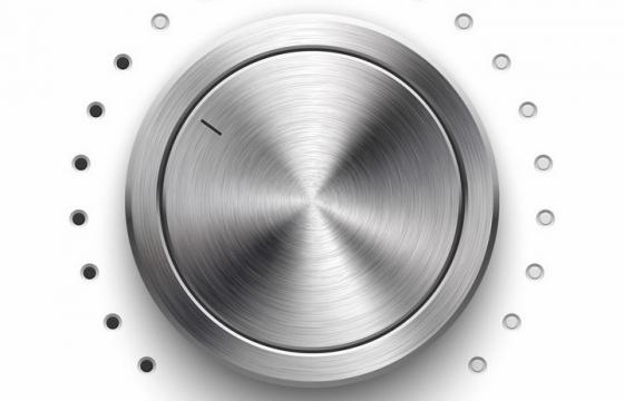金属拉丝风格的旋钮按钮开关png图片免抠矢量素材