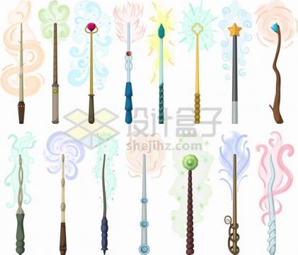 15款小魔仙的魔术棒仙女棒png图片素材