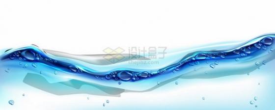 一款蓝色水面效果213045png图片素材