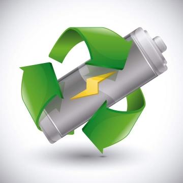 绿色环保电池图标免抠矢量图片素材