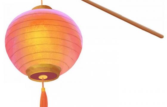 红色圆球红灯笼花灯png图片免抠素材