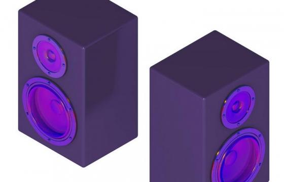 紫色音响低音炮音箱图片免抠素材