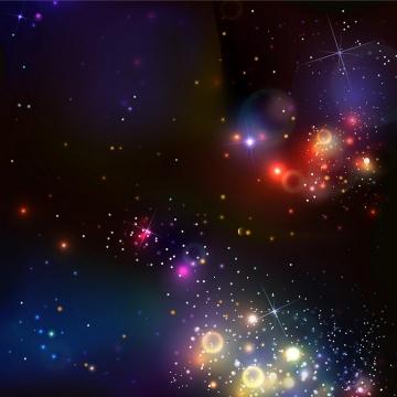 彩色绚丽的宇宙星云星空星光效果图片免抠矢量图素材